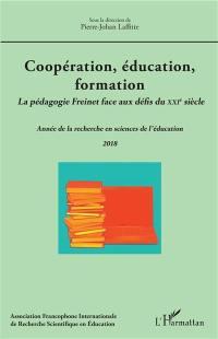 Année de la recherche en sciences de l'éducation. n° 2018, Coopération, éducation, formation