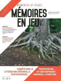 Mémoires en jeu = Memories at stake. n° 5, Enquête sur la littérature mémorielle contemporaine = Investigation of contemporary memorial literature