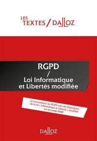 RGPD loi Informatique et libertés modifiée