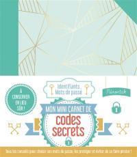 Mon mini-carnet de codes secrets