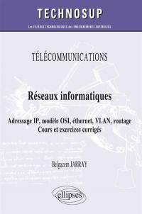 Télécommunications, réseaux informatiques, adresse IP, modèle OSI, éthernet, VLAN, routage