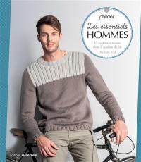 Les essentiels hommes : 13 modèles à tricoter dans 2 qualités de fils : du S au XXL