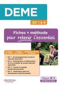 DEME : DC 1 à 4 : fiches + méthode pour retenir l'essentiel