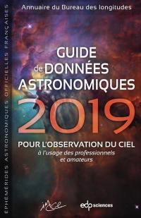 Guide de données astronomiques 2019