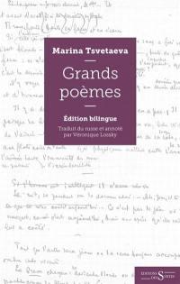 Les grands poèmes : poèmes traduits du russe par Véronique Lossky, n° 1, Grands poèmes