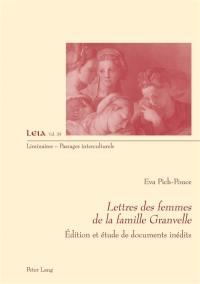 Lettres des femmes de la famille Granvelle