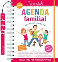 Agenda familial : septembre 2017-décembre 2018
