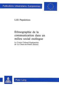 Ethnographie de la communication dans un milieu social exolingue
