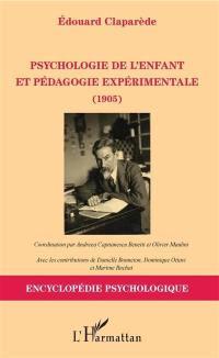 Psychologie de l'enfant et pédagogie expérimentale : 1905