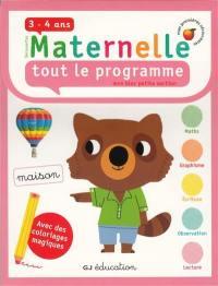 Découvertes maternelle, tout le programme : mon bloc petite section 3-4 ans : avec des coloriages magiques