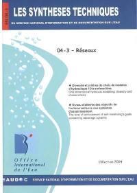 Les synthèses techniques du Service national d'information et de documentation sur l'eau. Volume 4-3, Réseaux