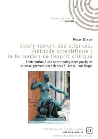 Enseignement des sciences, méthode scientifique
