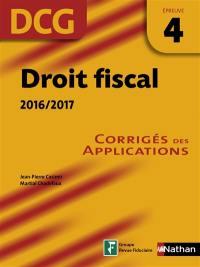 Droit fiscal, DCG épreuve 4