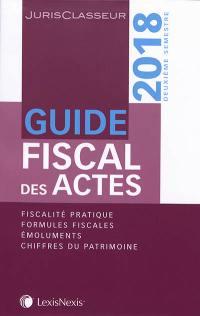 Guide fiscal des actes