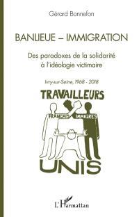Banlieue, immigration