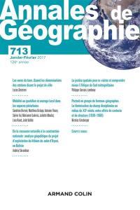 Annales de géographie. n° 713,