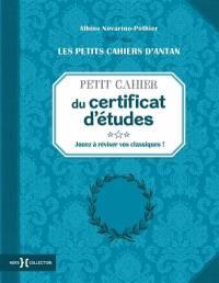 Petit cahier du certificat d'études