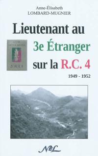 Lieutenant au 3e étranger sur la RC4