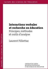 Interactions verbales et recherche en éducation