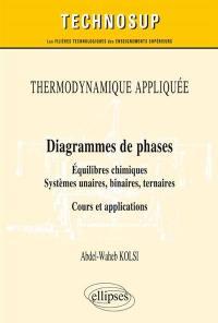 Diagrammes de phases, équilibres chimiques, systèmes unaires, binaires, ternaires