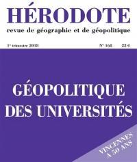 Hérodote. n° 168, Géopolitique des universités