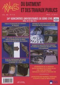 Annales du bâtiment et des travaux publics. n° 5-6 (2016), 34es rencontres universitaires de génie civil : Liège, 24-27 mai 2016