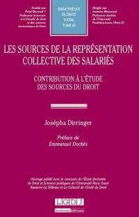 Les sources de la représentation collective des salariés
