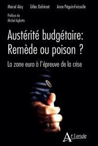 Austérité budgétaire, remède ou poison ? : la zone euro à l'épreuve de la crise