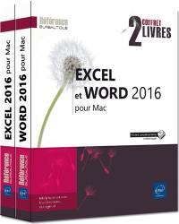 Excel et Word 2016 pour Mac : coffret 2 livres