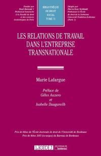 Les relations de travail dans l'entreprise transnationale