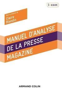Manuel d'analyse de la presse magazine