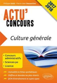 Culture générale 2017-2018