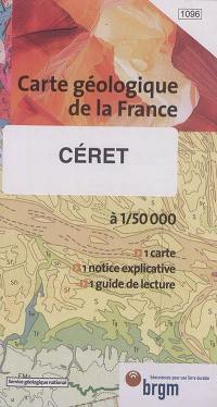 Céret : carte géologique de la France à 1:50.000
