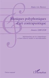 Musiques polyphoniques d'art contrapuntique