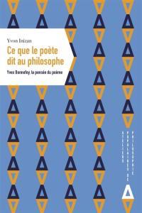 Ce que le poète dit au philosophe