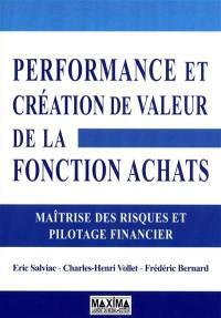 Performance et création de valeur de la fonction achats
