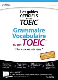 Grammaire, vocabulaire du test TOEIC